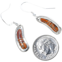 Sterling Silver Inlay Shell Navajo Earrings 18143