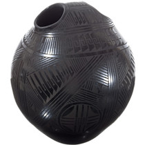 Large Mata Ortiz Double Hole Pottery Vase 34497