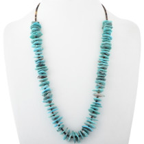 Santo Domingo Turquoise Flat Stone Necklace 34503