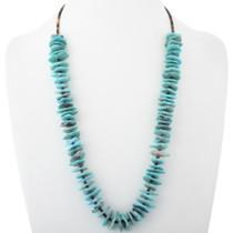 Santo Domingo Turquoise Flat Stone Necklace 34503