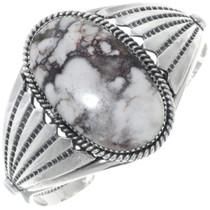 Wild Horse Magnesite Silver Cuff Bracelet 34504