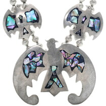 Abalone Mother of Pearl Inlay Navajo Necklace 34505