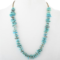 Navajo Lisa Wiley Natural Turquoise Necklace 34507