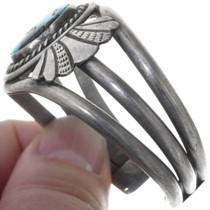 Navajo Slide Sterling Silver Turquoise Bracelet 34512