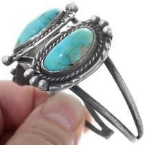 Navajo Made Sterling Silver Cuff Bracelet 34514