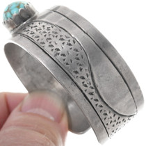 Number 8 Turquoise Hand Made Navajo Cuff Bracelet 34515