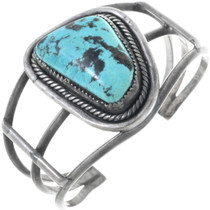 Old Pawn Turquoise Silver Bracelet 34520