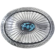 Vintage Turquoise Silver Belt Buckle 34525