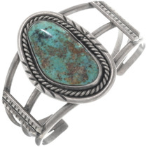 Vintage Turquoise Silver Bracelet 34529