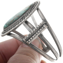 Battle Mountain Turquoise Navajo Cuff Bracelet 34529