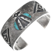 Dead Pawn Hopi Turquoise Sterling Cuff 34530