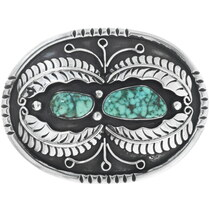 Vintage Carico Lake Turquoise Belt Buckle 34532