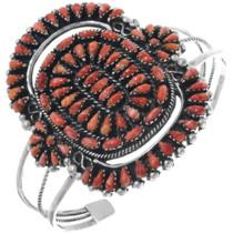 Vintage Spiny Oyster Silver Zuni Bracelet 34535