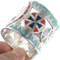 Zuni Edaakie Inlaid Clown Kachina Bracelet 34536