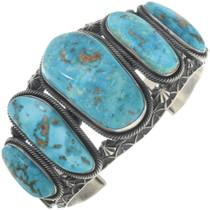 Vintage Navajo Gary Reeves Turquoise Bracelet 34537