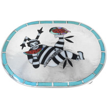 Old Pawn Zuni Clown Kachina Belt Buckle 34541