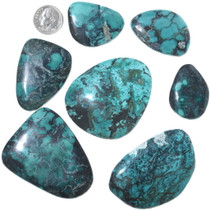 Large Bright Blue Green Turquoise Cabochons 33488