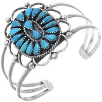 Vintage Turquoise Silver Ladies Bracelet 34543