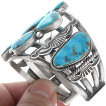 Authentic Oscar Alexius Navajo Turquoise Jewelry 34544
