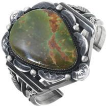Vintage Green Turquoise Sterling Silver Bracelet 34546