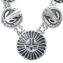 Authentic Navajo Cecil Ashley Sterling Silver Overlay Necklace 34559
