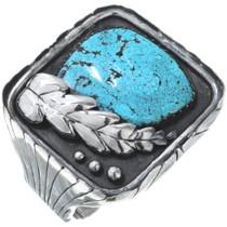 Large Old Pawn Kingman Turquoise Bracelet 34569