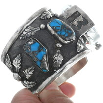 Ithaca Peak Turquoise Sterling Silver Watch Cuff 34572