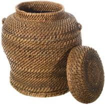 Vintage Southwest Jar Basket With Lid 34575