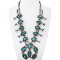 Old Pawn Royston Turquoise Squash Blossom Necklace 34578