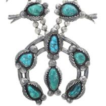 Vintage Royston Turquoise Squash Blossom Necklace 34578