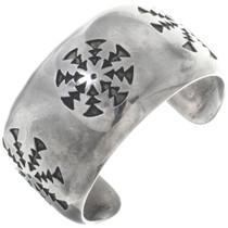 Vintage Overlaid Sterling Silver Cuff Bracelet 34579