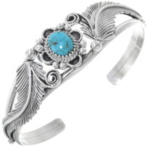 Natural Kingman Turquoise Cuff Bracelet 34592