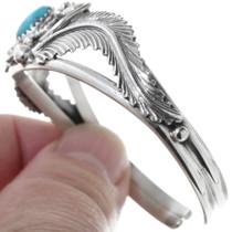 Navajo Made Sterling Silver Turquoise Ladies Bracelet 34592