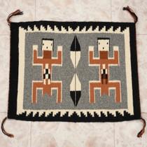 Vintage Navajo Dragonfly People Rug 34596