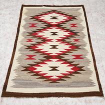 Vintage Crystal Navajo Wool Rug 34598
