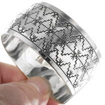 Navajo Geometric Pattern Hand Made Bracelet 34600