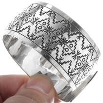 Authentic Navajo Calvin Peterson Cuff Bracelet 34601