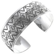Navajo Geometric Pattern Sterling Silver Bracelet 34601