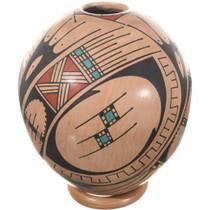 Mata Ortiz Polychrome Seed Pot 34602