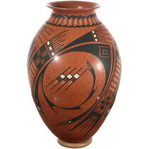 Mata Ortiz Polychrome Olla Pottery 34588
