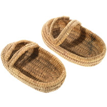 Antique Papago Indian Basket Shoes 34606