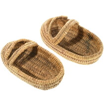 Antique Papago Indian Basket Shoes 34606