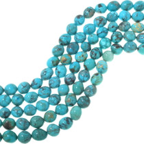 Blue Green Round Turquoise Beads 33491
