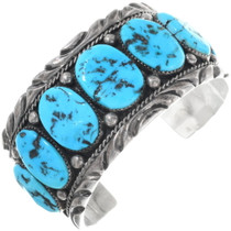 Vintage Turquoise Sterling Silver Cuff Bracelet 34620