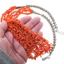 Coral Branch Beaded Navajo Necklace 34623