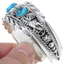 Turquoise Silver Ladies Cuff Bracelet 20278