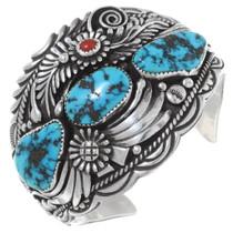 Vintage Ithaca Peak Turquoise Silver Bracelet 34633