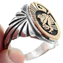 Authentic Calvin Peterson Navajo Ring 34638
