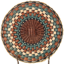 Authentic Hopi Polychrome Basket Tray 34647