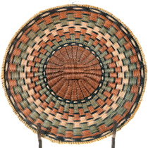 Vintage Hopi Wicker Tray Basket 34647